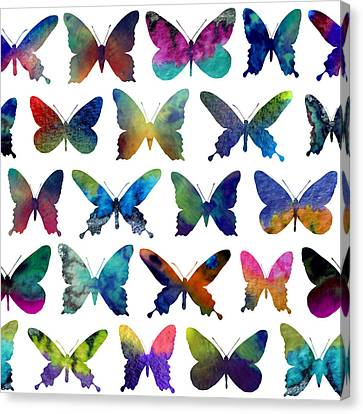 Insect Canvas Print - Butterflies by Varpu Kronholm