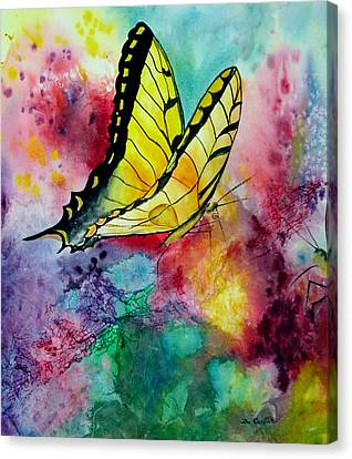 Butterfly 2 Canvas Print by Dee Carpenter