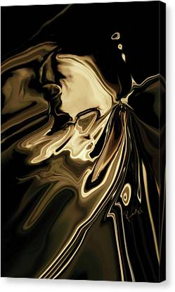 Canvas Print featuring the digital art Butterfly 2 by Rabi Khan
