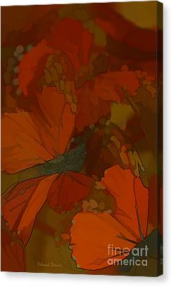 Butterfly Abstract Canvas Print by Deborah Benoit