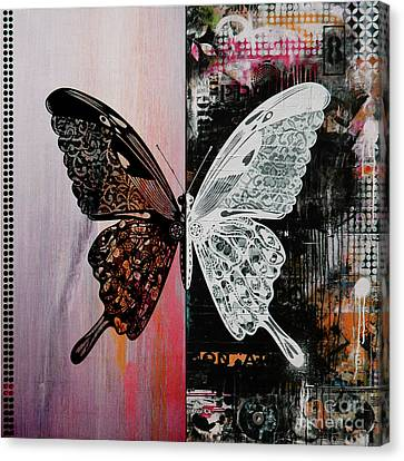 Butterfly Art 45h Canvas Print by Gull G