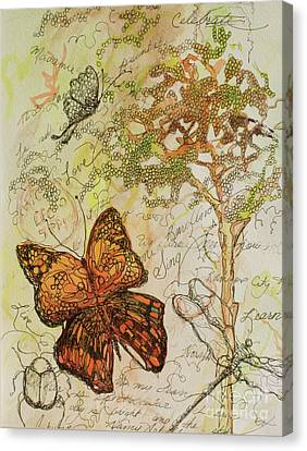 Butterfly Art Journal Canvas Print by Michele Hollister - for Nancy Asbell