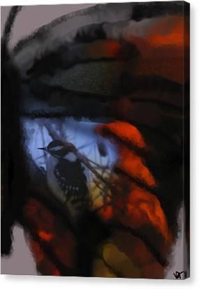 Butterfly Birds Collection  Canvas Print by Debra     Vatalaro