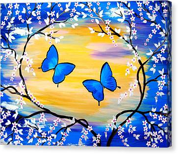 Butterfly Bliss Canvas Print by Cathy Jacobs