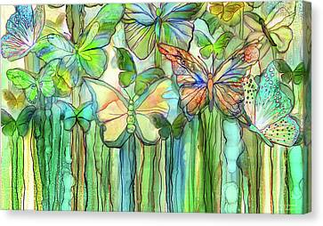 Butterfly Bloomies 3 - Rainbow Canvas Print