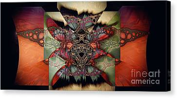 Butterfly Effect 2 / Vintage Tones  Canvas Print by Elizabeth McTaggart