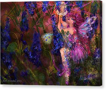 Butterfly Fairy Canvas Print by Kari Nanstad
