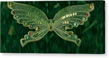 Butterfly Fascination Canvas Print by Anne-Elizabeth Whiteway