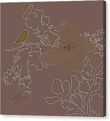 Butterfly Floral  9 Canvas Print by Debra     Vatalaro