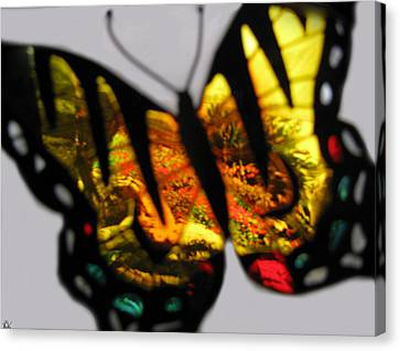 Butterfly Floral Collection  Canvas Print by Debra     Vatalaro