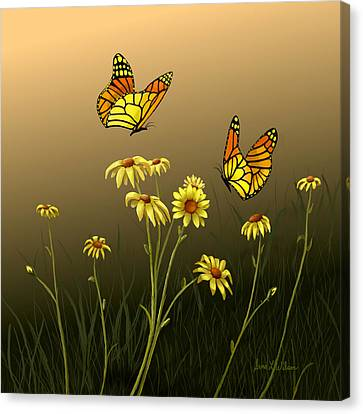 Canvas Print featuring the painting Butterfly Haven by Sena Wilson