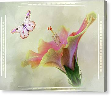 Butterfly Hibiscus Art II Canvas Print