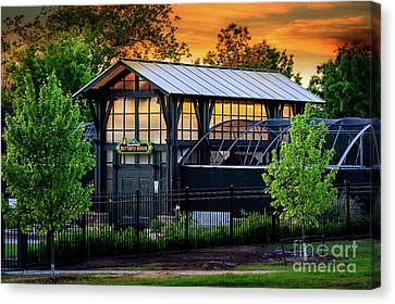 Canvas Print - Butterfly House At Sunset by Tamyra Ayles