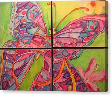 Butterfly Joy Canvas Print by Marlene Robbins