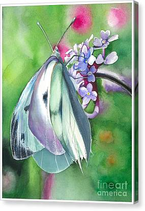 Butterfly Kisses Canvas Print by Maya Marcotte