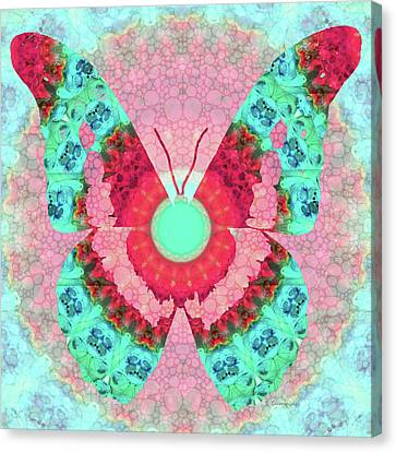 Butterfly Mandala 3 Art By Sharon Cummings Canvas Print