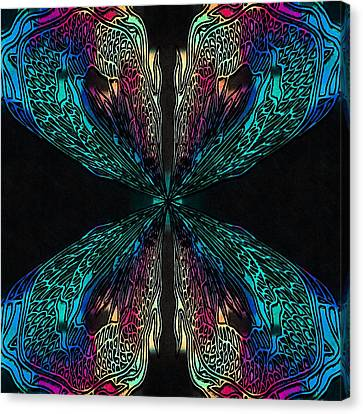 Butterfly Of Chaos Canvas Print by Susan Maxwell Schmidt