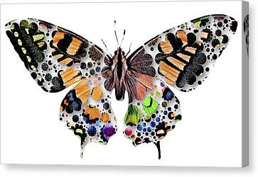 Puppy Canvas Print - Butterfly Pop Art by Mary Bassett