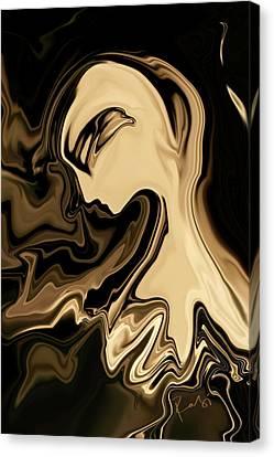 Canvas Print featuring the digital art Butterfly Princess by Rabi Khan