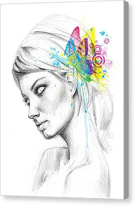 Butterfly Queen Canvas Print by Olga Shvartsur