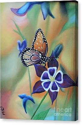 Canvas Print featuring the painting Butterfly Series#4 by Dianna Lewis