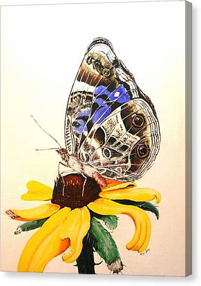 Canvas Print featuring the painting Butterfly Sun by Mike Ivey