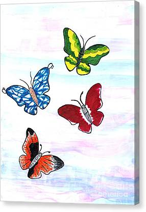 Butterfly Tag Canvas Print