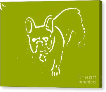 Denim The Frenchie Canvas Print by Heather Joyce Morrill