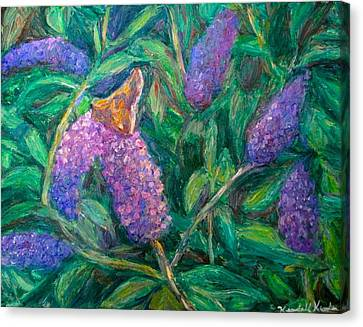 Canvas Print featuring the painting Butterfly View by Kendall Kessler