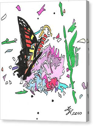 Butterfly2010 Canvas Print by Loretta Nash