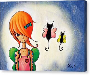 Butterkitties Canvas Print