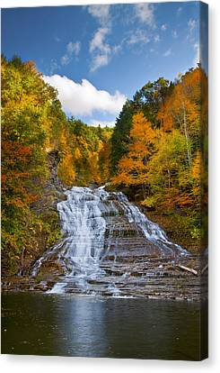 Finger Lakes Canvas Print - Buttermilk Falls 2 by Mark Papke