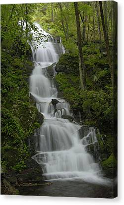 Buttermilk Falls Canvas Print by Stephen  Vecchiotti