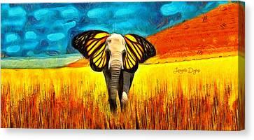Butterphante Canvas Print by Leonardo Digenio