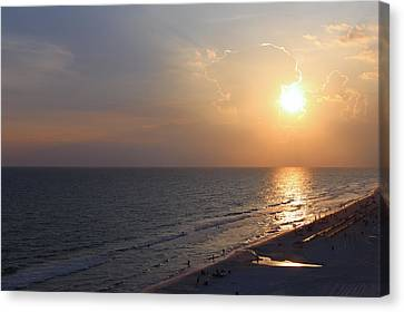 Panama City Beach Canvas Print - Buttery Sunset by Theresa Campbell