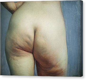 Buttocks And Left Hand On Hip Canvas Print by Felix Vallotton