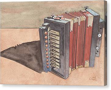 Button Accordion Canvas Print