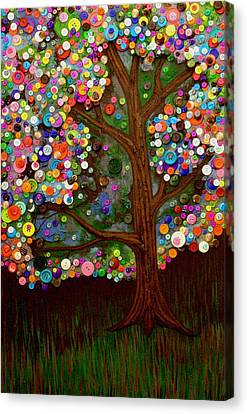 Button Tree 0007 Canvas Print by Monica Furlow