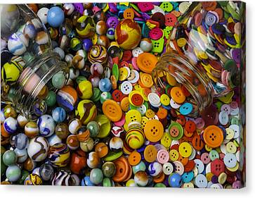 Buttons And Marbles Canvas Print by Garry Gay