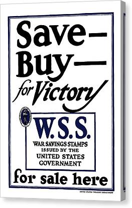 Buy For Victory Canvas Print by War Is Hell Store