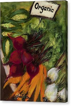 Buy Fresh Organic Produce Canvas Print