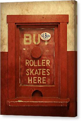 Buy Skates Here Canvas Print