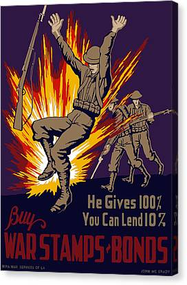 Buy War Stamps And Bonds Canvas Print