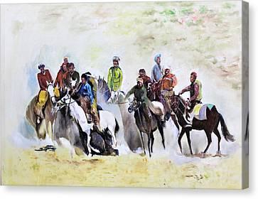 Buzkashi Sport Canvas Print