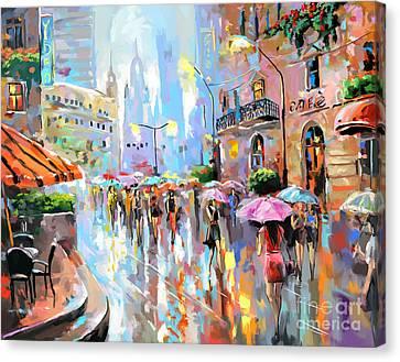 Buzy City Streets Canvas Print