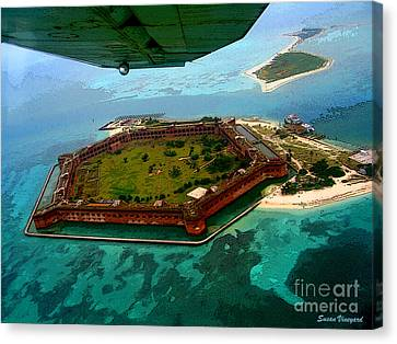 Buzzing The Dry Tortugas Canvas Print