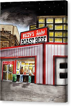 Buzzy's Fabulous Roast Beef Canvas Print by Dave Olsen
