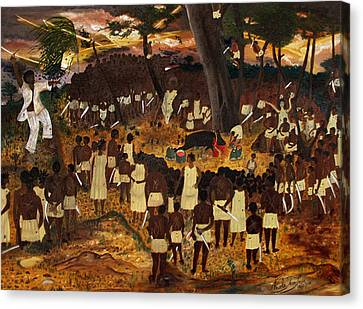 Bwa Kayiman Haiti 1791 Canvas Print by Nicole Jean-Louis