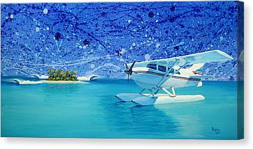 By Air Canvas Print by Patrick Parker