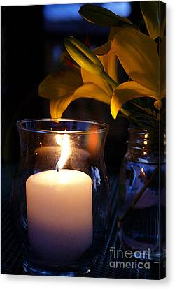By Candlelight Canvas Print by Linda Shafer